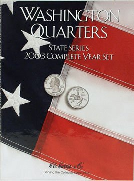 Harris Coin Folder - State Series Quarters Complete Year 2003 Re#8HRS2586