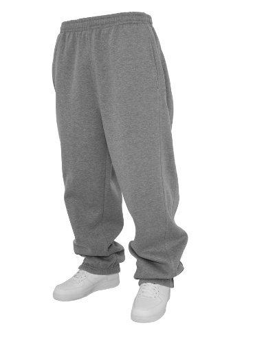 Urban Classics Sweatpants TB014B - cotone, grigio, 65% cotone 35% poliestere, Uomo, XS