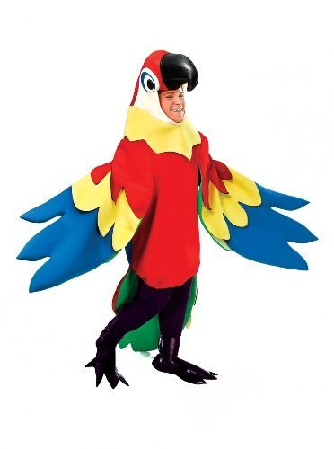 [Deluxe Parrot Costume - One Size - Chest Size 42-48 by Parties Unwrapped UK] (Deluxe Parrot Costumes)