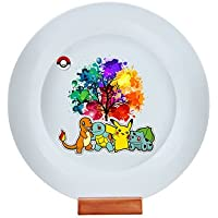 "Raksha Bandhan Gift For Brother Or Sisters ""Pokemon Theme"" Inner Printed Circular Plate"