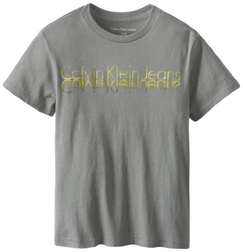 凑单品:Calvin Klein Jeans Little  Logo Crew 小男孩短袖T恤 $6.85