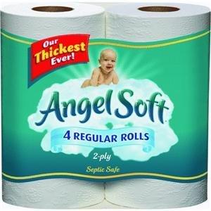 Angel Soft BathTissue, Regular Roll, Unscented 4 pk