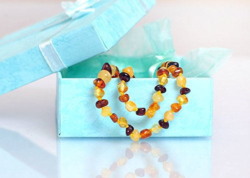 Amber Teething Necklace For Babies (UNISEX) FINEST