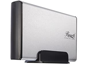 Rosewill Aluminum 3.5-Inch Silver USB 2.0 External Enclosure Cooling RX35-AT-SU SLV Silver