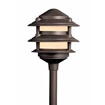 landscape walk lighting 3 tier pagoda landscape path lights. Black Bedroom Furniture Sets. Home Design Ideas