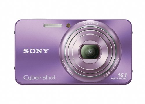 Sony Cyber Shot DSC W570 161 MP Digital Still Camera With Carl Zeiss Vario Tessar 5x Wide Angle Optical Zoom Lens And 27 Inch LCD Violet Best