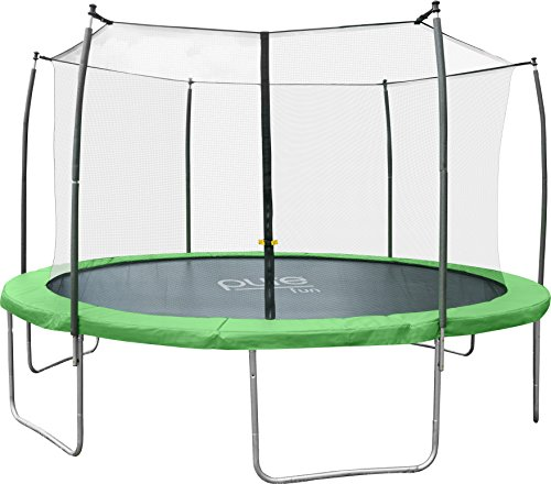 Pure-Fun-Dura-Bounce-Outdoor-Trampoline-with-Enclosure-12-Green
