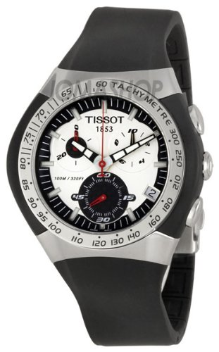 Tissot Men's T0104171703100 T-Trax Chronograph Black Rubber Strap Watch
