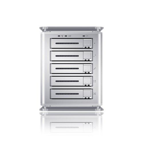 Sans Digital TS25CTTowerSTOR 5-Bay 2.5-Inch SATA to USB2.0/eSATA Hardware RAID 5 Enclosure (Silver)