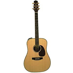 Takamine Pro Series TNV360S Dreadnought Acoustic Electric Guitar, Natural with Case