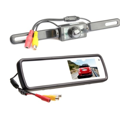 Vakind 4.3 Inch Tft Car Rearview Lcd Rear View Dvd Mirror Monitor And Backup Camera front-426470