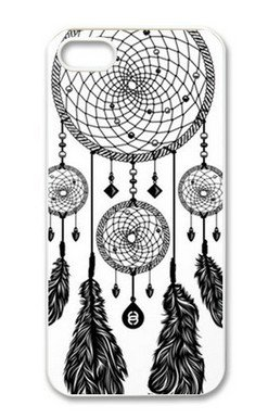 Treasure Design Funny Dreamcatcher (Black & White) Apple Iphone 5 Best Durable Case front-951914