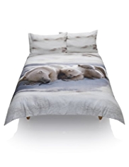 Pure Cotton Digital Polar Bear Print Bedset