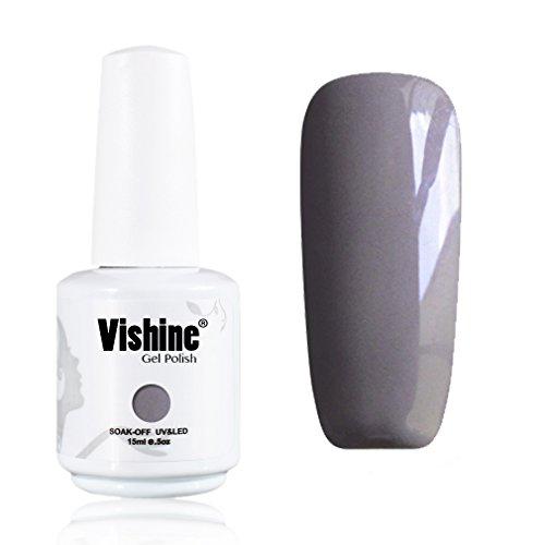 Vishine-Soak-Off-UV-LED-Gel-Polish-Lacquer-Nail-Art-Manicure-Varnish-Light-Grey-1587