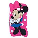 MACC Designer Soft Back Cartoon Cover Case Silicon 3D For Samsung Galaxy Star Pro S7262 - MINNIEHANDFOLDED DPINK...