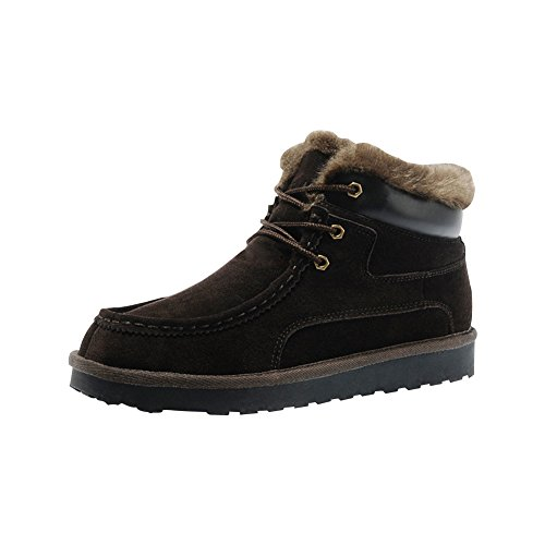Rock Me Women'S Genuine Leather Winter Snow Boot (8 B(M) Us, Brown)