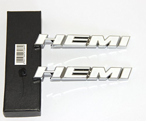 Yoaoo-oem® 2pcs New Chrome Hemi 5.7l Liter Emblem Badge Sticker for Dodge Jeep Ford Jaguar 2009-2015 Challenger Hot 2 Kinds (2pcs 5.7v) (Dodge 100 Emblem compare prices)