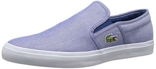 Lacoste Men's Gazon Sport 216 1 Fashion Sneaker, Blue, 10 M US