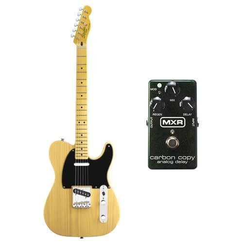 FENDER SQUIER Classic Vibe 50's Telecaster Guitar Blonde w/ MXR M78 Distortion (Fender Classic Vibe 50 compare prices)