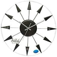 Safal Wooden Wall Clock (40.64 cm x 40.64 cm, Black, SQ 1011)