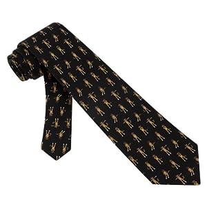 Sock Monkey Boys Silk Tie Necktie - Animal Print Neck Tie
