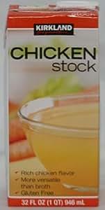 6 Pack Kirkland Signature Chicken Stock 32oz Aseptic Brick