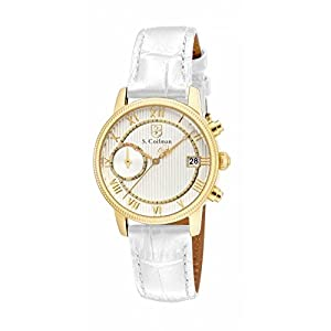 Invicta S. Coifman SC0335 32mm Stainless Steel Case White Leather Mineral Women's Watch