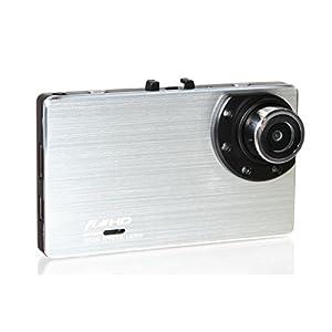 TA-Creative 広角 150° 300万画素 西日本LED信号消失対応 フルHD 1080P 3.0インチ 液晶搭載 ドライブレコーダー 常時録画 Gセンサー ナイトビジョン TA-009CS (シルバー)