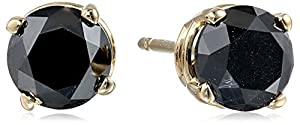 1.5 cttw Black Diamond Stud Earrings 14k Yellow Gold