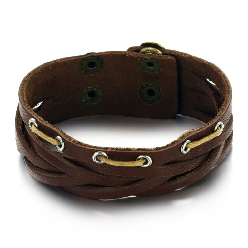 MiniBlue Europe and the United States Multilayer Quality Leather Bracelet
