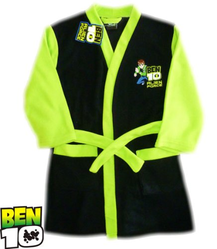 Official Ben 10 Cartoon Network Boys Dressing Gown by ThePyjamaFactory