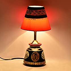 ExclusiveLane Terracotta Warli Handpainted Baby Lamp