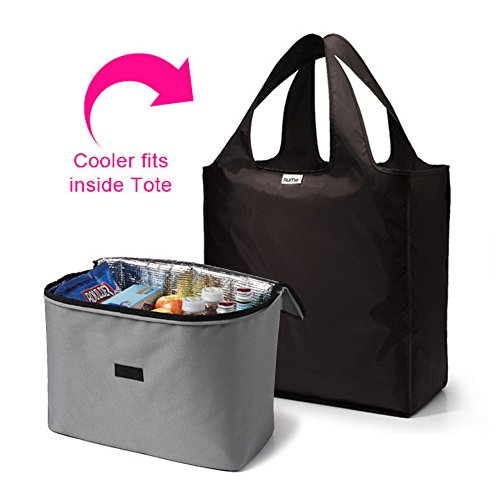 RuMe Large Tote Bag with Large 2Cool Insulated Cooler Insert Set of 2 (Sleepaway Camp Box Set compare prices)