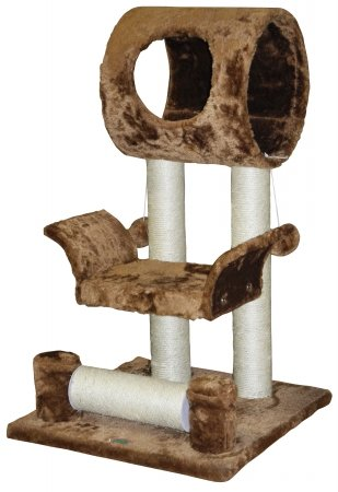 Go Pet Club Cat Tree Condo House Furniture, 28-Inch, Brown