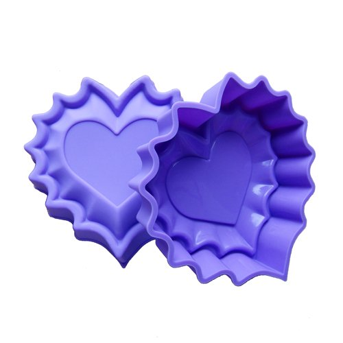Easygoby Non-Stick Flowers Heart-Shaped Silicone Gel Cake Mold Chocolate Craft Candy Soap Baking Bakeware Diy Mold