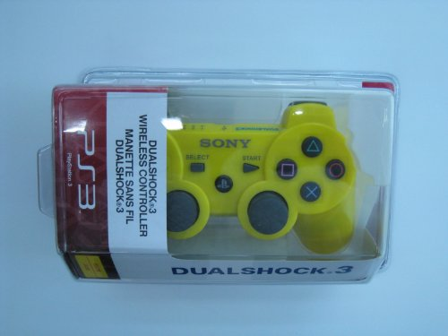 Playstation 3 PS3 Dualshock 3 Wireless Controller- Lemon Yellow