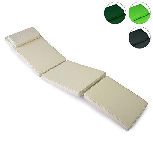 Hochwertige-Sitz-Auflage-Polster-fr-Deckchair-Steamer-Holzliege-Liegestuhl-Klappsessel-Sonnenliege-abnehmbares-Futeil-dick-bequem-wasserabweisend-abwaschbar-creme