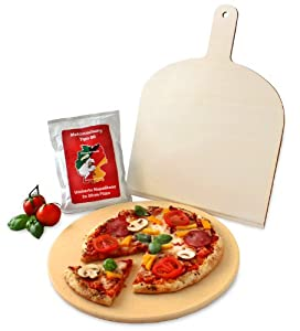 Vesuvo v32001 set pietra refrattaria per pizza pane da - Pietra refrattaria da forno per pizza ...