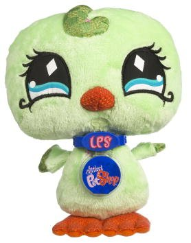Buy Low Price Hasbro Littlest Pet Shop VIP Virtual Interactive Pet Plush Figure Green Bird (B001B3VDM4)