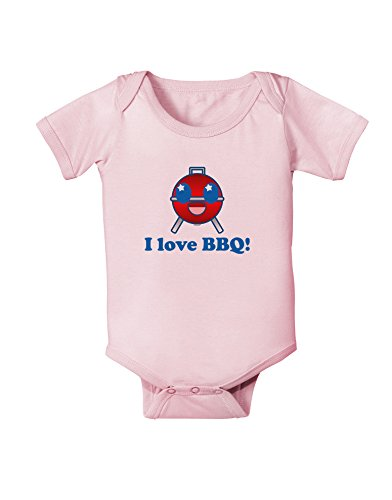 I Love BBQ Infant One Piece Bodysuit - Light Pink - 12 Months