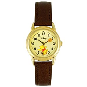 Disney Winnie the Pooh Women's Analog Watch with Leather Strap WTP044