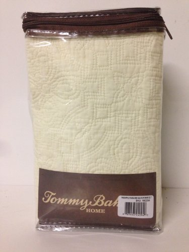Tommy Bahama Pineapple Paradise Quilted Euro Pillow Sham Cream front-1006132