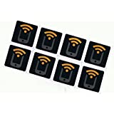 8 Black NFC Stickers NTAG213 by Tagstand - Fully programmable, and works with Android, Samsung Galaxy S7, S6, S5, S4, S3, Nexus 5, HTC, and All Other NFC Enabled Devices