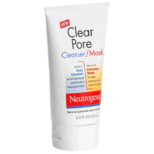Neutrogena Clear Pore Cleanser/Mask, 4.2-Ounce Tubes (Pack of 3)