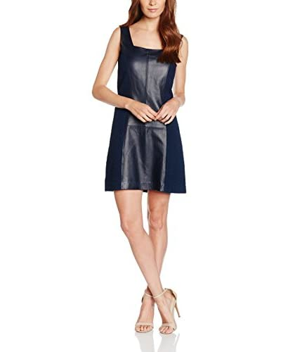 Trussardi Jeans Lederkleid blau
