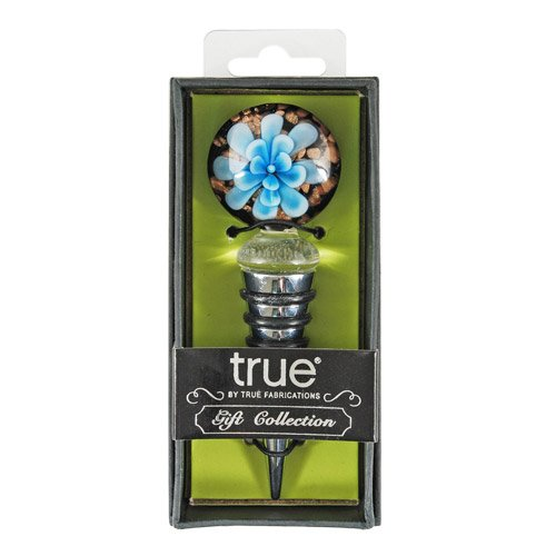 Blue Flower Wine Bottle Stopper