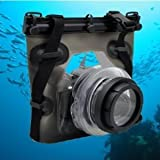 Opteka Underwater Case/Waterproof Housing for Canon EOS, Nikon, Sony, Olympus & Pentax DSLR Camera (Rated Depth of 30')
