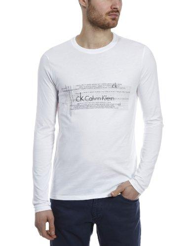 Calvin Klein CK Long Sleeve Logo Heritage Logo Mens T-Shirt