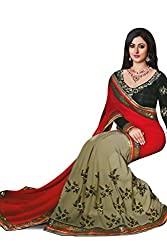 Bikaw Embroidered Red Georgette Party Wear Saree - BT-1153-A2