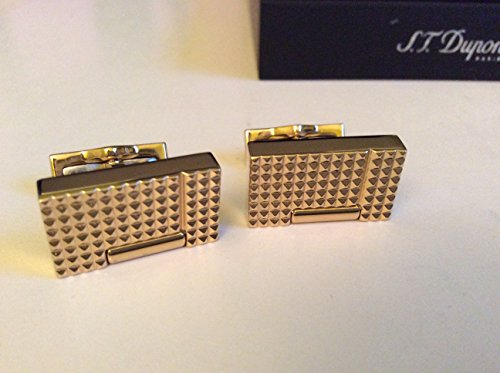 S.T. Dupont Mens Cufflinks Yellow Gold 005370OR New MSRP$380
